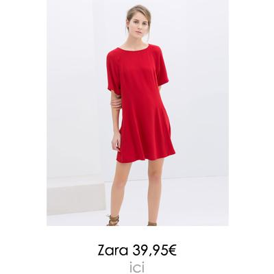 robe rouge zara