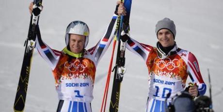 Alexis Pinturault et Steve Missillier sur le podium