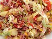 Chou chinois légumes, pommes terre allumettes jambon