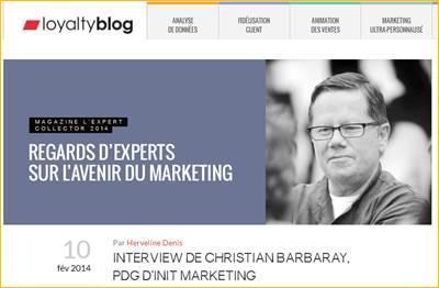L'agence Loyalty Expert «100% valeur client» : 10 ans, 10 interviews le 10 Février…
