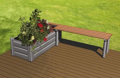 Brise vue moderne et original en aluminium cosmos par cetal paperblog - Banc de terrasse en bois ...