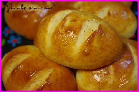 pain au lait citron pavot