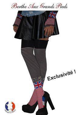 Jambière exclusive Berthe aux grands pieds God save the berthe