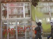 casseurs saccagent centre-ville Nantes lors d'une manifestation