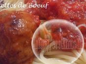 Boulettes Boeuf Moelleuses sauce Tomates Thermomix)