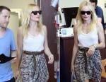 Kate Bosworth et son débardeur résille Isabel Marant