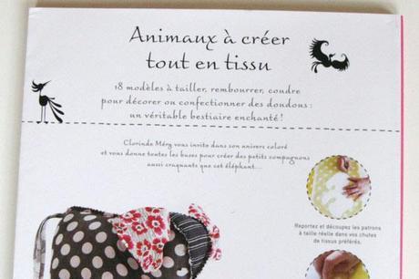 livre animaux creer dos Livre : Animaux à créer tout en tissu