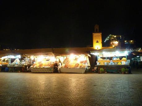 Les stands d'oranges de la place Jemma el-Fna