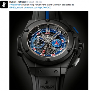 Hublot officialise la King Power Psg