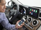 Mercedes présente tour système embarqué d'Apple iPhone