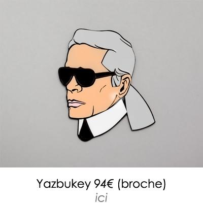 broche lagerfeld tendance pop yazbukey