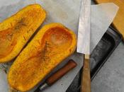 Courge Butternut rôtie herbes Provence l'huile d'olive
