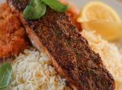 ~Filet saumon dijonnaise avec purée carottes céleri-rave~