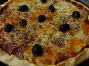 Pizza jambon deux fromages
