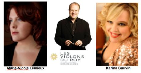 Salomon de Händel par Les Violons du Roy, I Capuletti e I Montecchi de Vincenzo Bellini par Opera McGill et le premier Festival de la Voix de Vox Aeterna et Kerry-Anne Kutz et