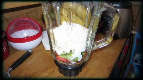 blender smoothie fruit avoine