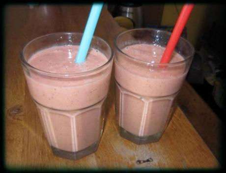 verres smoothie fruits avoine