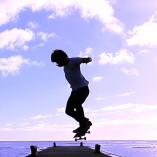 Skateboard à Hawaï