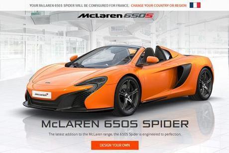 Personnalise le spider Mclaren Spider 650 S