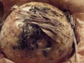 Céleri-rave rôti herbes l'ail