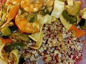 Angèle testé... Poêlée légumes, crevettes, quinoa