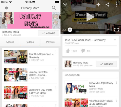 Youtube iOS 7