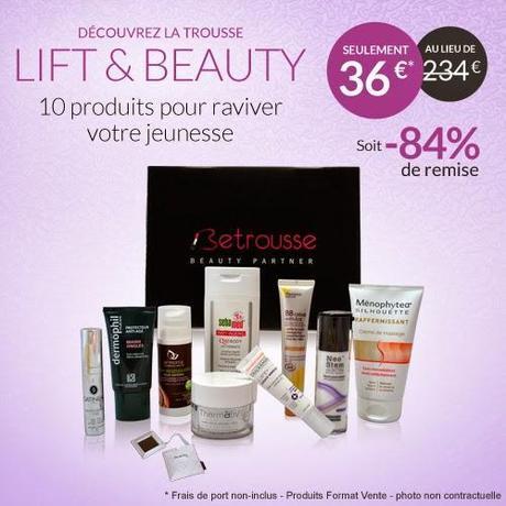 Be trousse et sa Lift & Beauty  ... le plein de produits pour rester jeune et jolie !