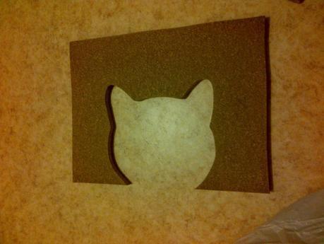 découpe de tête de chat