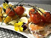 Saumon plancha romarin légumes grillés