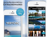 VeryChic ventes privées d'hôtels luxe iPhone iPad