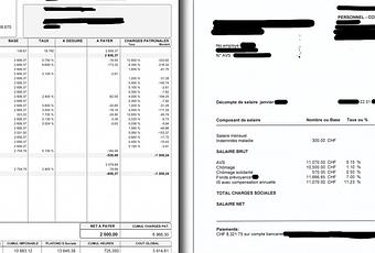 comparaison entre une feuille de salaire suisse et fran aise d couvrir. Black Bedroom Furniture Sets. Home Design Ideas
