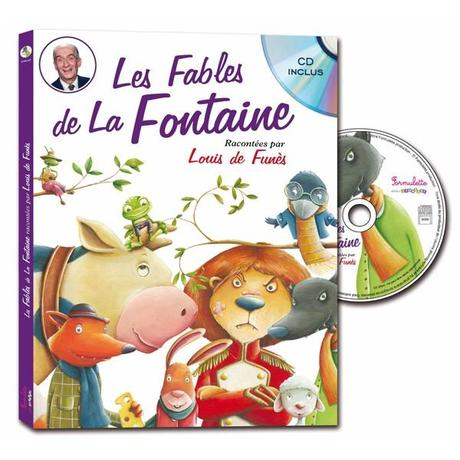 Les Fables de La Fontaine racontées par Louis de Funès voix Louis de Funès livre CD les fables de La Fontaine illustrations colorées Formulette édition diction bonheur acteur de légende