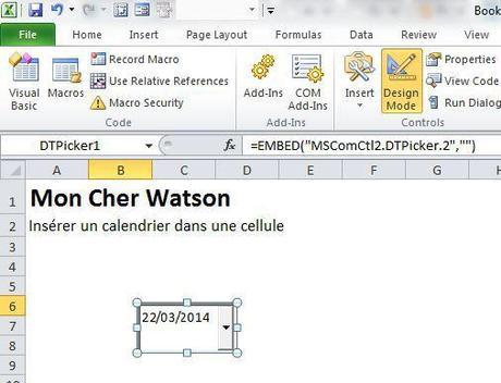 Excel Inserer Un Calendrier Dans Une Cellule Paperblog