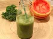 Green smooothie (Kehl, pamplemousse, pomme, banane)