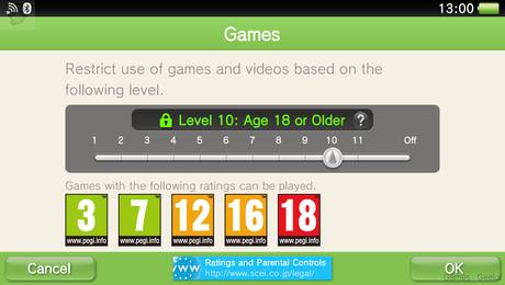 psn controle parental La PS Vita passe en version 3.10  sony ps vita playstation 3.10