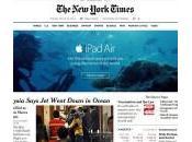 Insolite publicité l'iPad près d'un article crash MH370