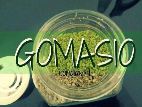 GOMASIO, condiment aux sésame et aux sels marin.