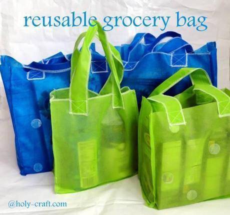 sac courses DIY : un sac de courses réutilisable