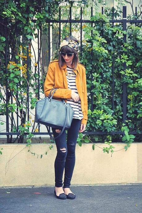 MUSTARD YELLOW & BLUE GREY