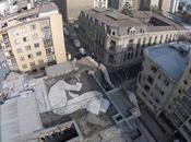 sans-abri gigantesque toit Santiago