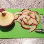 La découpe des pommes