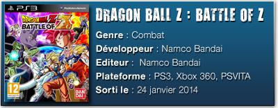FICHE TECHdbz [TEST] Dragon Ball Z : Battle of Z