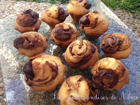 Muffins tourbillon au nutella