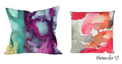 Coussin watercolor