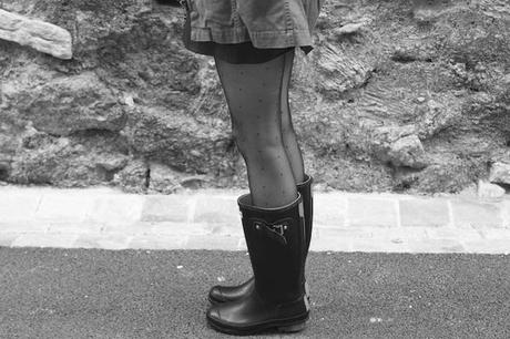 Blog mode Fashion Fashion Blog French Blog Fashion Blogger Ootd Outfit Lisa Marie Diary 3  Bottes de pluie et mini