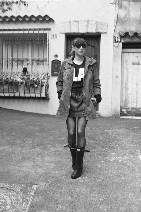 Blog mode Fashion Fashion Blog French Blog Fashion Blogger Ootd Outfit Lisa Marie Diary 5b Bottes de pluie et mini