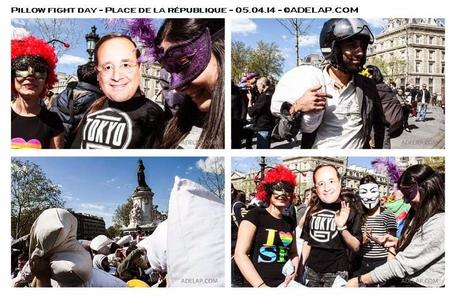 Reportage :: Pillow Fight Day - Place de la République, Paris