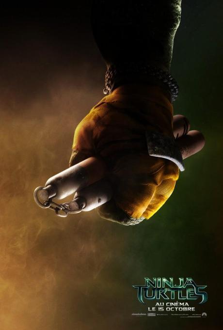 Ninja Turtles Teaser Michelangelo 691x1024 [CINÉMA] 4 affiches teaser pour NINJA TURTLES