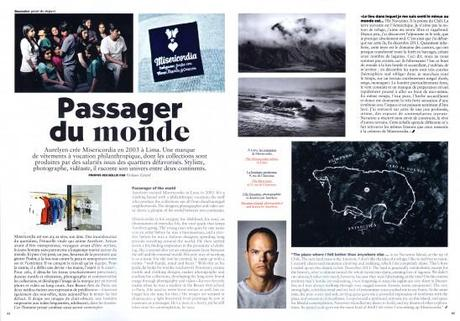 Article sur Misericordia dans air france magazine avril 2014
