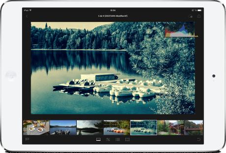 Adobe Lightroom mobile sur iPad